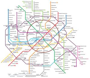 Онлайн схема метро москвы